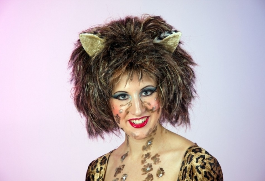 Katze Leo Perucke Karneval Fasching Party