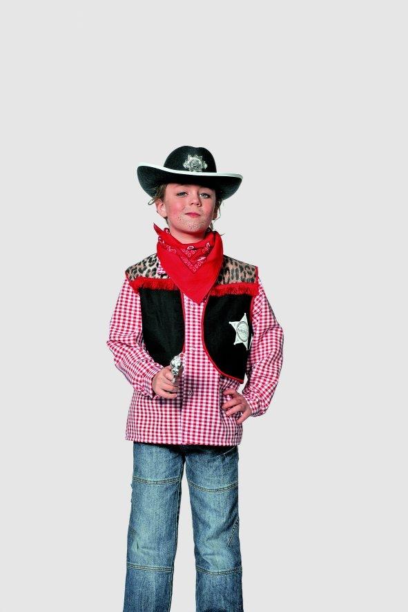cowboy weste wilder westen kinderfasching karneval. Black Bedroom Furniture Sets. Home Design Ideas