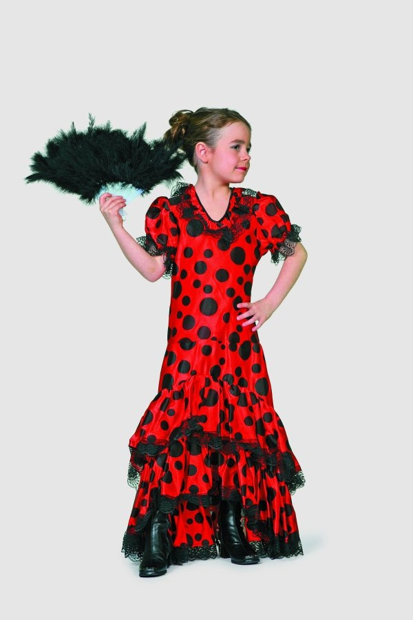 flamenco t nzerin kinderfasching kinderkost m karneval. Black Bedroom Furniture Sets. Home Design Ideas