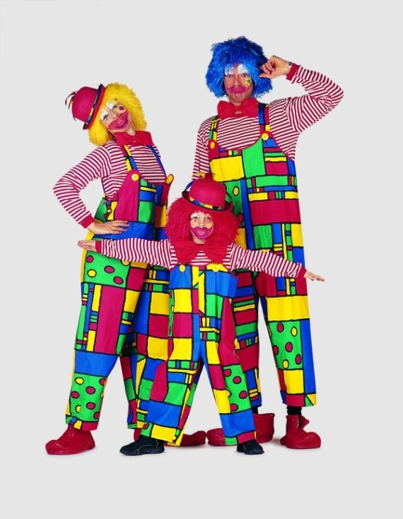 latzhose mondriaan clown zirkus kost m karneval fasching. Black Bedroom Furniture Sets. Home Design Ideas