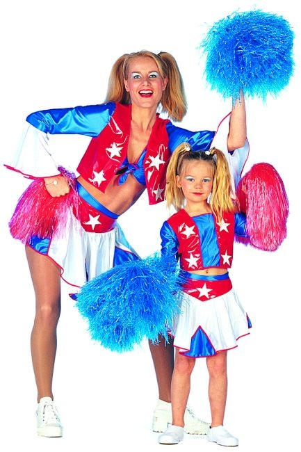 Cheerleader Kostum Kinder Galaxy Karneval Fasching