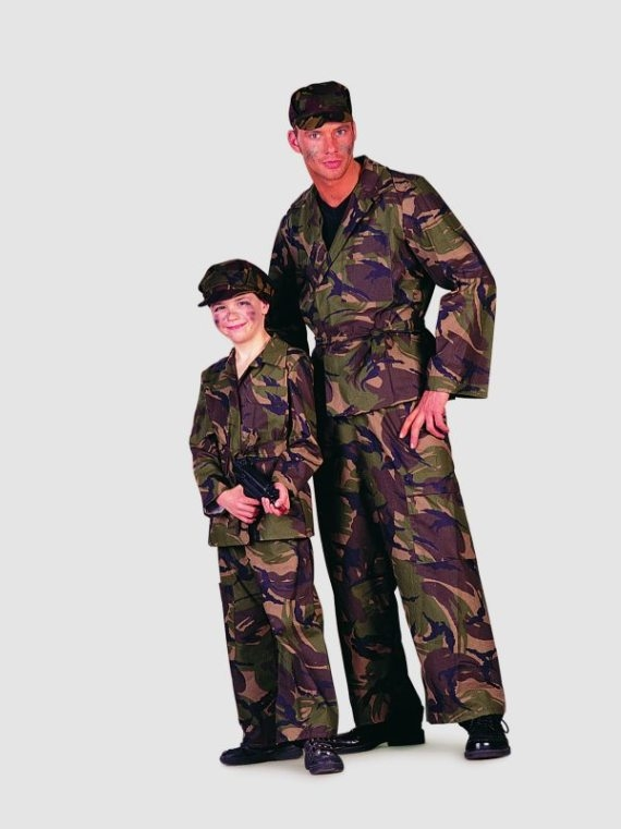 soldaten anzug fasching karneval mottoparty herrenkost m. Black Bedroom Furniture Sets. Home Design Ideas