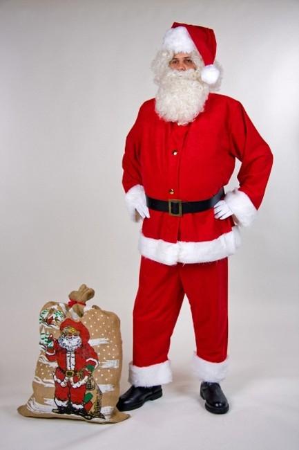 weihnachtsmann nikolaus santa claus anzug aus waschsamt. Black Bedroom Furniture Sets. Home Design Ideas