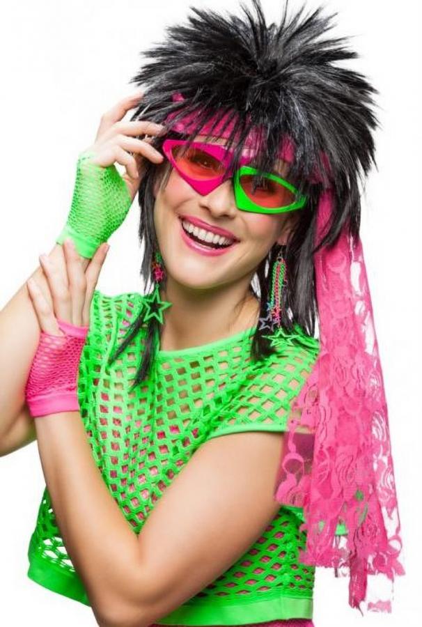 80er Jahre Zubehor 80er Set Neon Artikel 6 Teile Motto Schlagerparty
