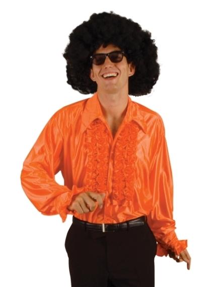 70er 80er jahre r schenhemd orange schlager mottoparty. Black Bedroom Furniture Sets. Home Design Ideas