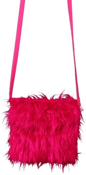 Pluschtasche Pink Accessoires Zubehor Fasching Mottoparty Karneval