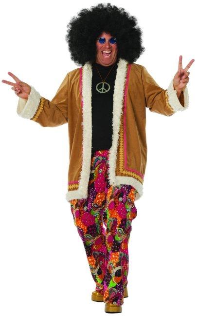 hippie hose mit langem mantel schlagerparty mottoparty