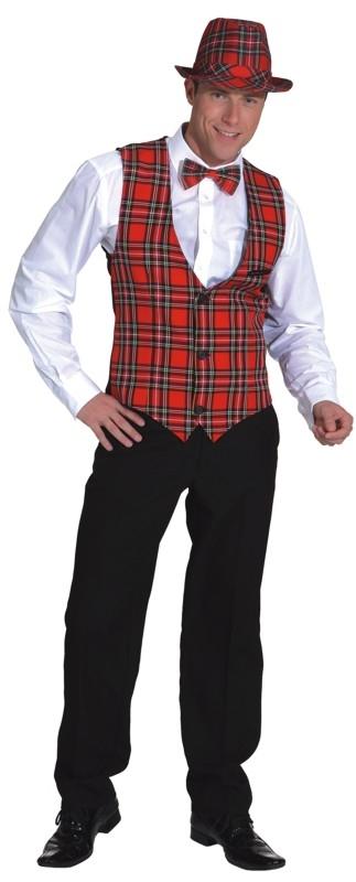 hochwertige Materialien Wählen Sie für offizielle neuer & gebrauchter designer Schottenweste Herren Faschingsweste Partyweste Karoweste Karneval