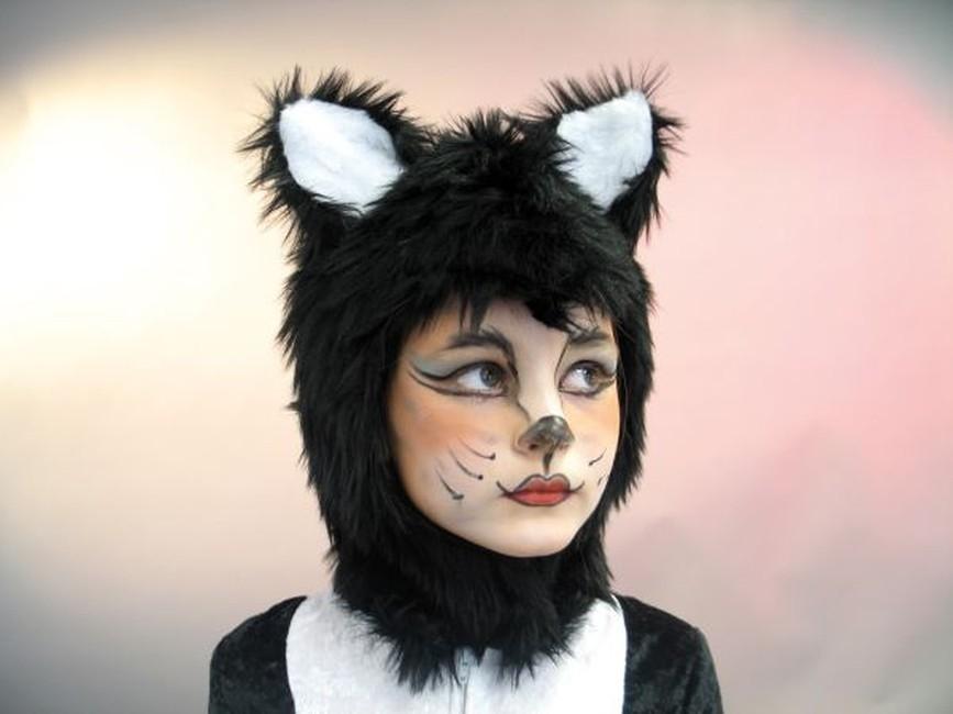 Katze Katzenhaube Karneval Fasching Kostum Party