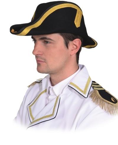 Piratenhut für Kinder Zweispitz mit Totenkopf