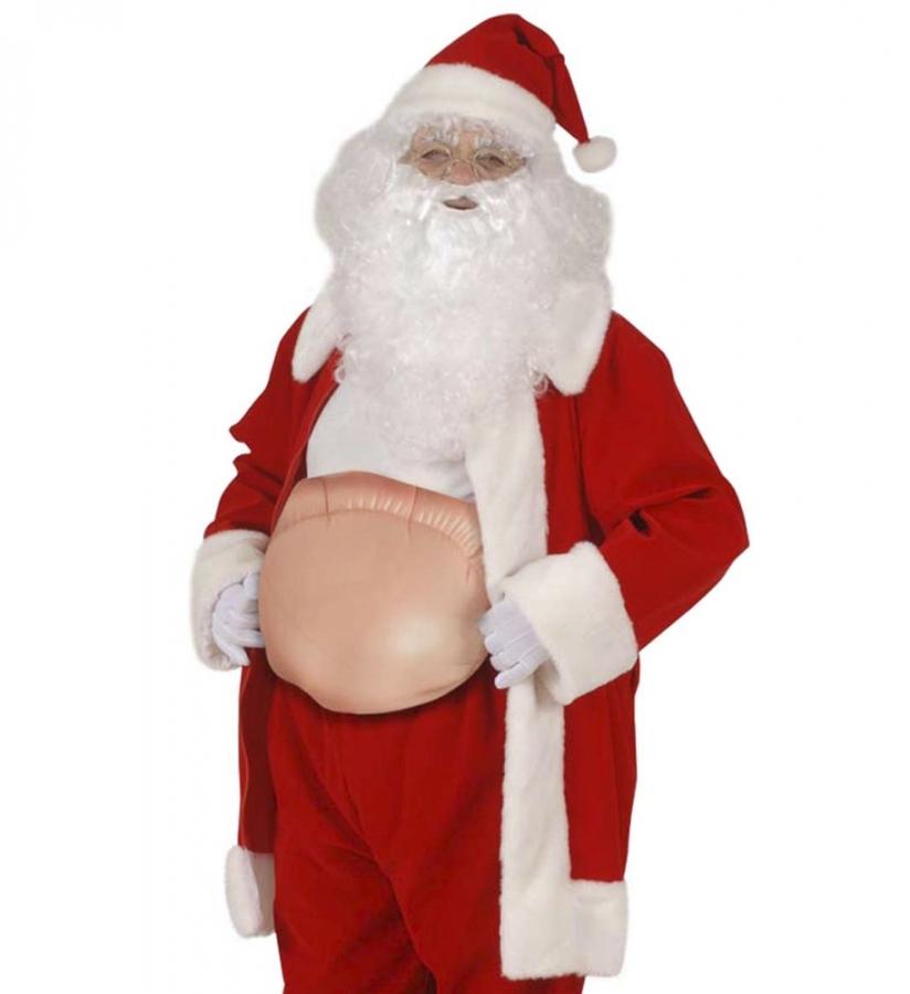Weihnachtsmann Maske mit Pl/üschbart Weihnachten
