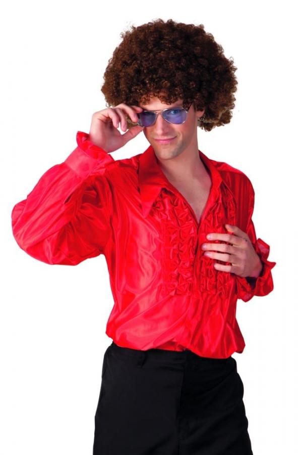 r schenhemd partyhemd rot 70er 80er jahre hemd retrohemd. Black Bedroom Furniture Sets. Home Design Ideas
