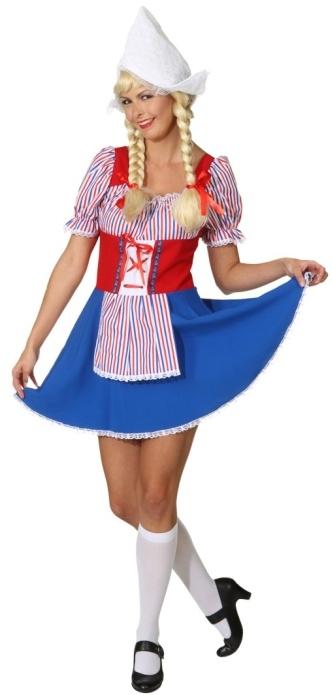 Hollanderin Kleid Fur Damen Karneval Fasching Motto