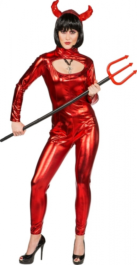 Teufel Sexy Teufelkostum Catsuit Devil Suit Overall Mit Kapuze 34 40