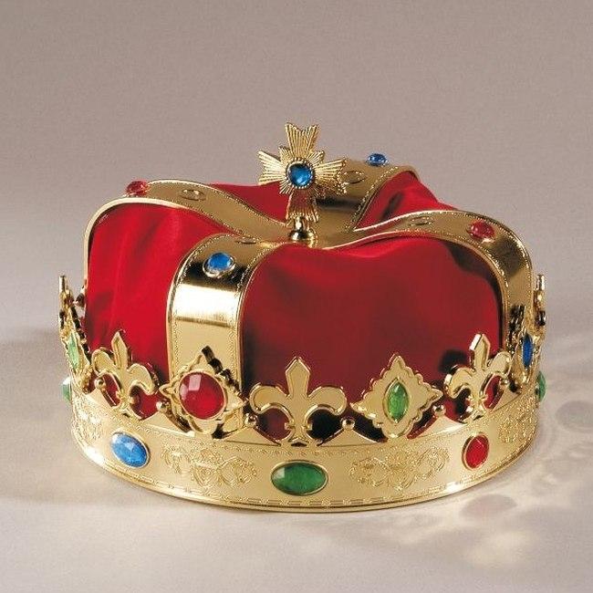 k nigskrone krone prinz karneval fasching kost m. Black Bedroom Furniture Sets. Home Design Ideas