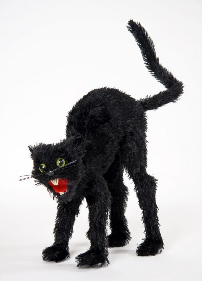 schwarze buckelige katze halloween hexe hexenzubeh r katzenschreck. Black Bedroom Furniture Sets. Home Design Ideas