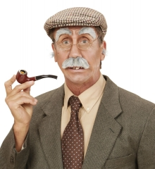 Alter Mann Opa Schnautzer Schnurrbart Augenbrauen Nasenhaare und Ohren Haare Set