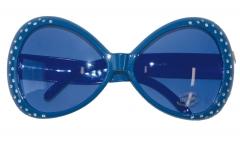 Coole Disco Brille 70er 80er Jahre Strass Glitzer