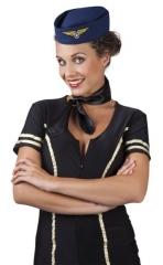 Stewardess Schiffchen Stewardessmütze Hostess Flugbegleiterin