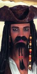 Pirat Piratenbart Seeräuber Schnäutzer und Bart im Set