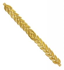 Lorbeerkranz bay wreath goldfarben als Zubehör für antike Cäsar Römer