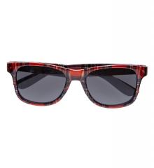 Schotte Schottenbrille Andreas Sonnenbrille mit Schottenmuster rot kar