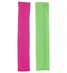 Schweißband Stirnband neon 2 Stück 80er Jahre Look Aerobic Tennis