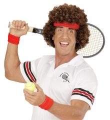 Tennisspieler Seventies Perücke Hippie 70er Hippieperücke Mottoparty