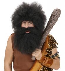 Schwarzer Bart mit Schnurrbart Knecht Ruprecht Rübezahl Räuber