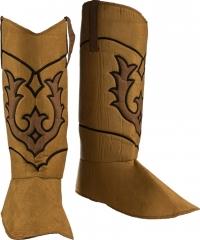Cowboy Indianer Gamaschen Stiefelstulpen braun