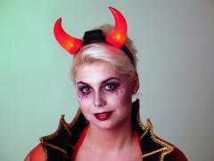 Teufel Teufelshörner mit leuchtenden Hörnern Junggesellenabschied