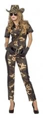 Soldatin Catsuit Kämpferin Natobraut Größen von 34 bis 46