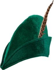 Robin Hood Hut mit Feder Jäger Jägerhut + Feder Mittelalter Märchen