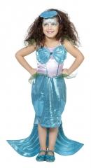 Nixe Nixenkostüm mit Diadem Meermaid Meerjungfrau Kinder 104 116 128 140 152 164
