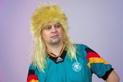 Vokuhila 80er Jahre Perücke Mantafahrer braun blond oder schwarz