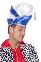 Prinzenmütze Garde Prunkmütze Narrenkappe blau oder rot