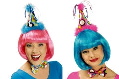 Clown Clownhütchen Minihut Partyhut mit passender Fliege