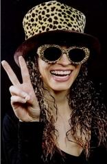 80er 90er Jahre Mütze mit Haar und Brille Schlagerparty