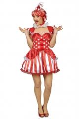 Clownin Clownkleid Clownkostüm Clown Größe 34 46