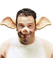Schwein Schweineohren Schweinenase im Set