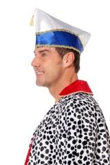 Narrenkappe Prinzenmütze Komiteemütze Schiffchen blau oder rot
