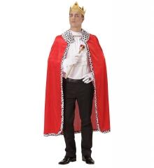 König Königin Königsumhang mit Krone Königsmantel in Einheitsgröße
