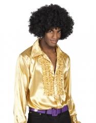 Satinhemd gold 70er Jahre Mottoparty goldenes Hemd Größe 46 bis 60