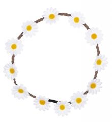 Haarband Margeriten Blumenhaarband Hippiezeit Blumenkranz 70er