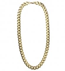Goldfarbene massive Halskette Goldkette Rapper Macho Lude 80er Jahre
