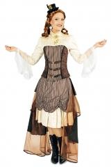 Steampunk Steampunkkleid Edel-Punk 34 bis 46 Viktorianische Kleidung