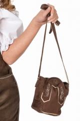 Trachtentasche Dirndltasche Tiroler braune Tasche Form einer Lederhose