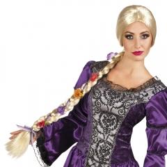 Blonde Langhaarperücke Dornröschen Prinzessin geflochtener Zopf