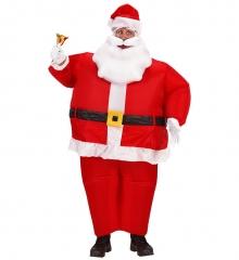 HOHO Aufblasbarer lustiges Kostüm Weihnachtsmann Nikolaus Partyspass