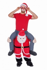 Nikolaus Weihnachtsmann Carry me Kostüm Carrying Men Santa Claus
